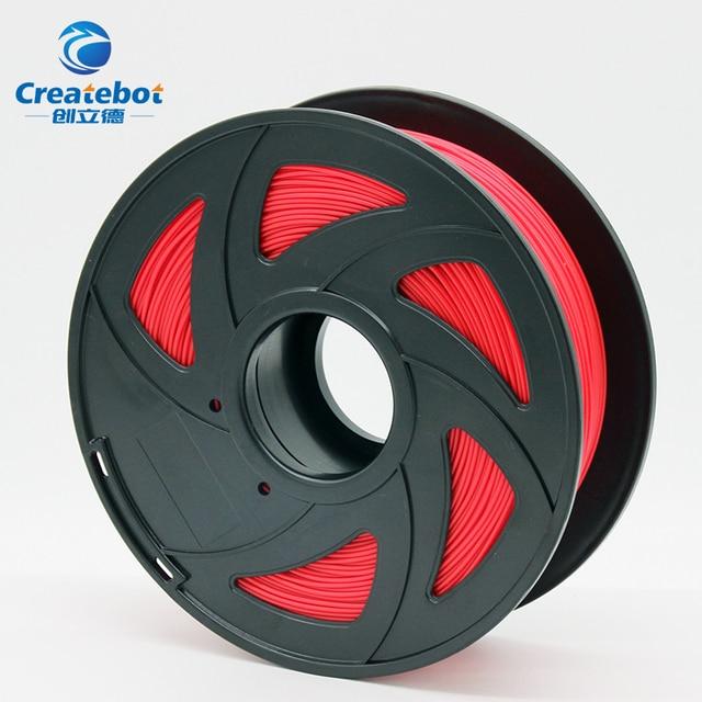 Createbot 3d Printer Filament pla 1.75mm 1kg High quallity plastic filament Plastic colorful Rubber Consumables Material