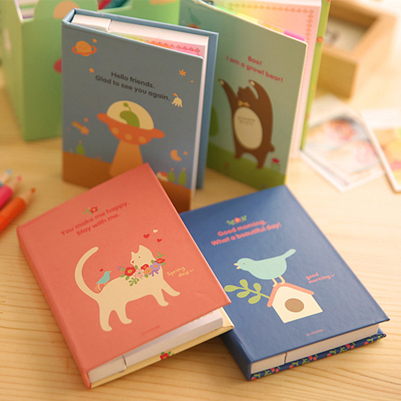 Convenient Paste Korean Version Cartoon Students Notes The Custom N Times Posted Creative Student Supplies Stickers