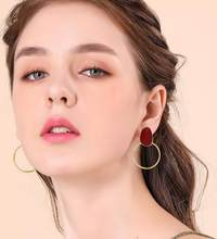 E559 New Fashion Big Resin Drop Earrings For Women 2019 New Acetic Acid Large Korea Square Earrings Trendy Geometric Jewelry(China)
