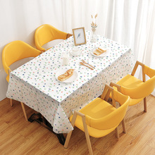Table-Cloth Waterproof Flower Kitchen-Decor Rectangle Multifunctional Chic Home PVC Whale-Pattern