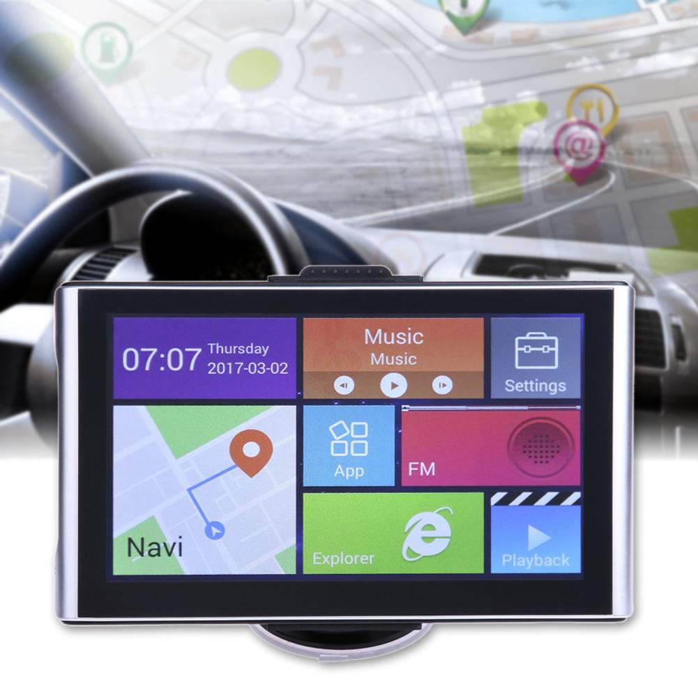 7 Android 4.2 GPS CPU Quad Core Car Navigator Bluetooth Wifi 8G 512M AV-in Navigator Bluetooth Australia/North America/Europe chuangzhuo cz001 5 android 4 0 gps navigator w 3 camera europe map wi fi av in av out black