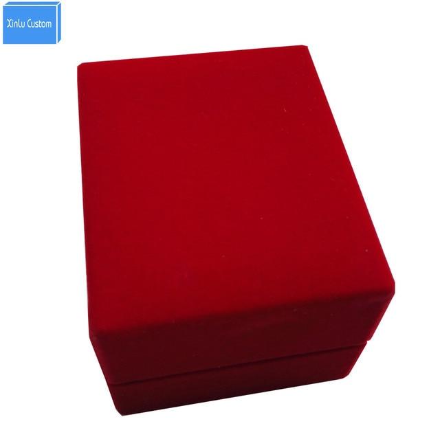 2017 New Design Black/blue/red Velvet Box Custom Cover Jewelry Decoration  Watch Box