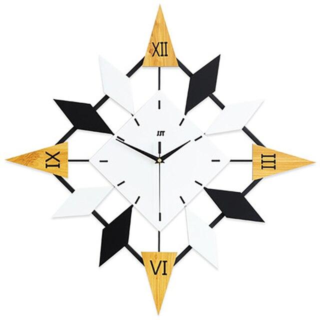 Retro Wall Clock Modern Design Clock Mechanism Fashion Large Decorative Digital Clock Silent Electronic Vintage Home Decor 5Q120