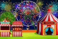 Laeacco Cena de fogos de Artifício Partido Do Circo Dos Desenhos Animados Do Bebê Backdrops Para Estúdio de Fotografia Fotografia Fundos Fotográficos Personalizados