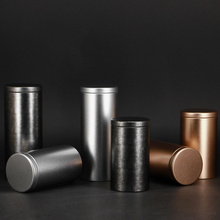6pcs/lot Cylindrical Metal Paint Tin Box Recycled Packaging Tea Storag