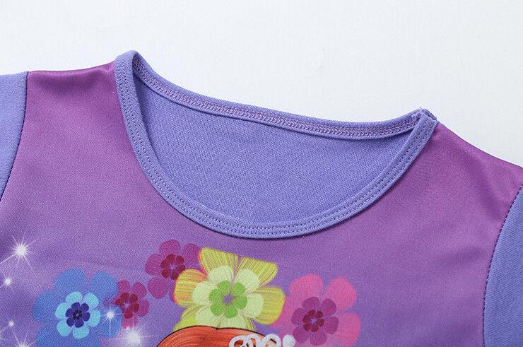 New-3-10Y-Kids-Girls-Children-Short-Sleeve-Princess-Dress-Summer-Girls-Dress-4