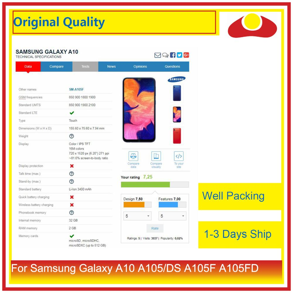 Image 3 - 10Pcs/lot For Samsung Galaxy A10 LCD A105 A105F SM A105F LCD Display With Touch Screen Digitizer Panel Pantalla Complete-in Mobile Phone LCD Screens from Cellphones & Telecommunications