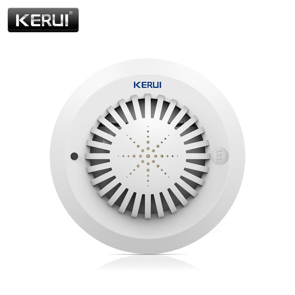 KERUI SD03 Home Alarm Low Battery Remind Smoke Fire Detector Sensor High Sensitivity Voice Prompts For G18 G19 W2 K7