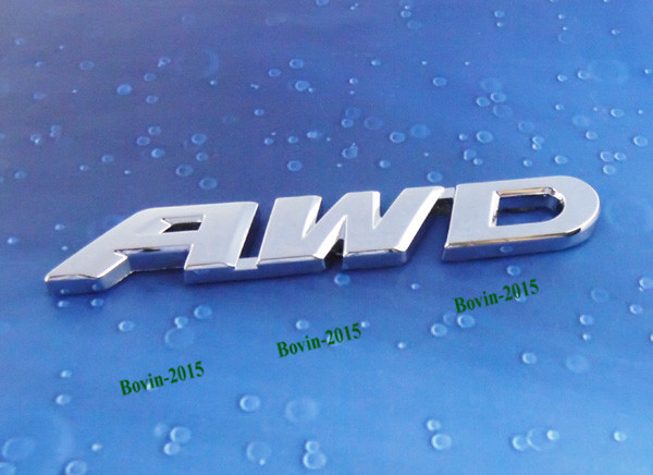 Auto Car Metal Chrome AWD for CR-V Rear Boot Emblem Badge Decal Sticker auto chrome for 2008 2013 genesis front rear wing emblem badge sticker