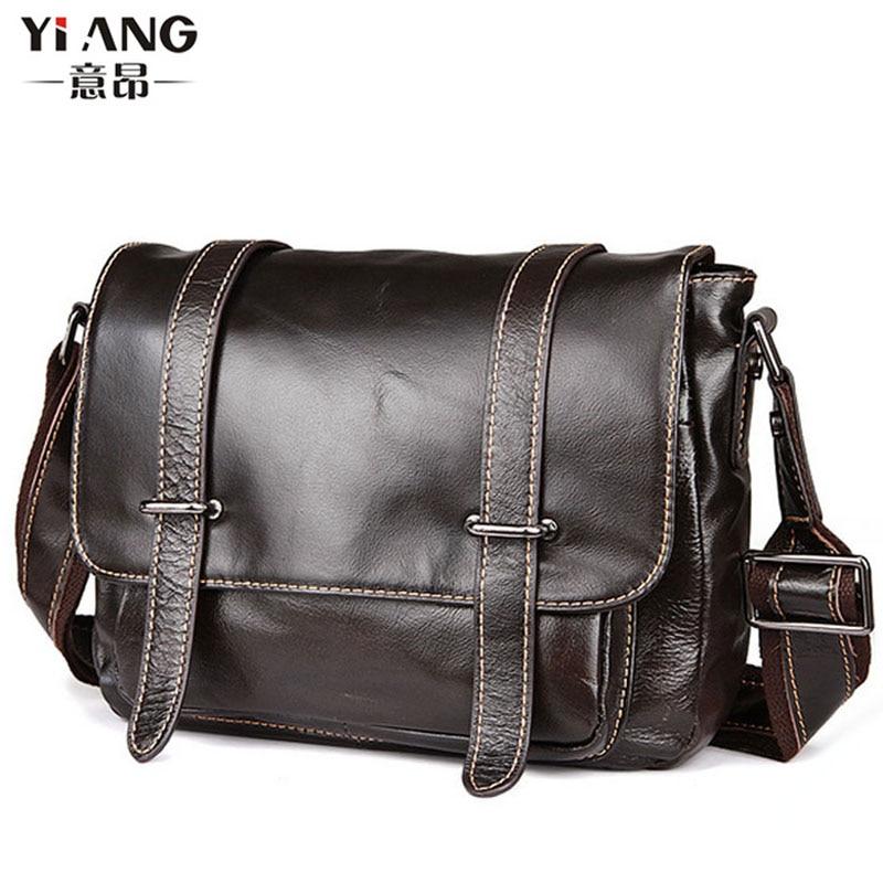 2018 New Men Vintage Genuine Leather Cowhide High Quality Handbag Briefcase Business Laptop Bag Messenger Bag handbags все цены