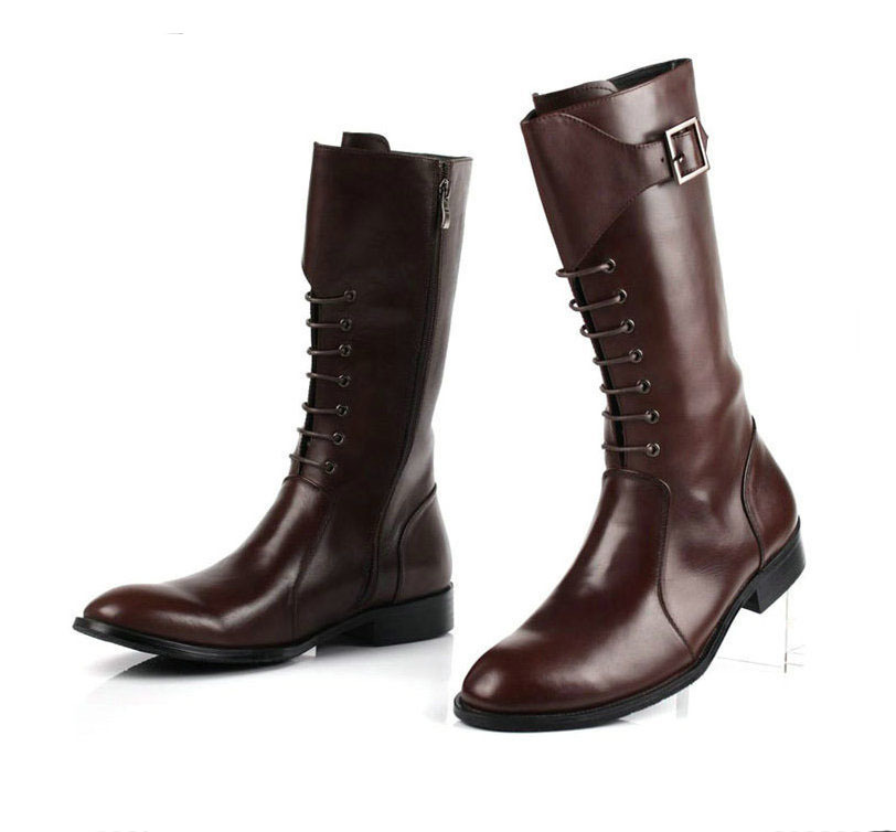Aliexpress.com : Buy GRIMENTIN men's knee high boots genuine ...