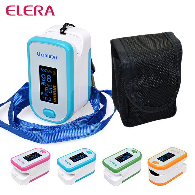 ELERA Portable Finger Pulse Oximeter With Pouch OLED Blood Oxygen Saturation Oximetro de Dedo Digital Pulsioximetro