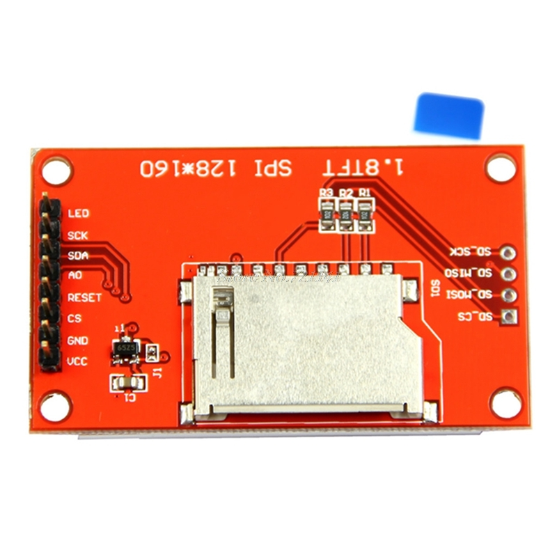 "1,8 ""Serial 128X160 SPI módulo TFT LCD pantalla + adaptador de PCB Power IC SD Socket Dropship"