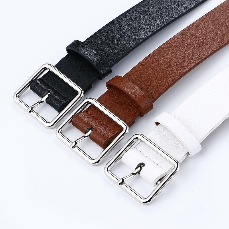 Más nuevo diseño mujer cinturón de plata pin cuadrado hebilla - Accesorios para la ropa - foto 5