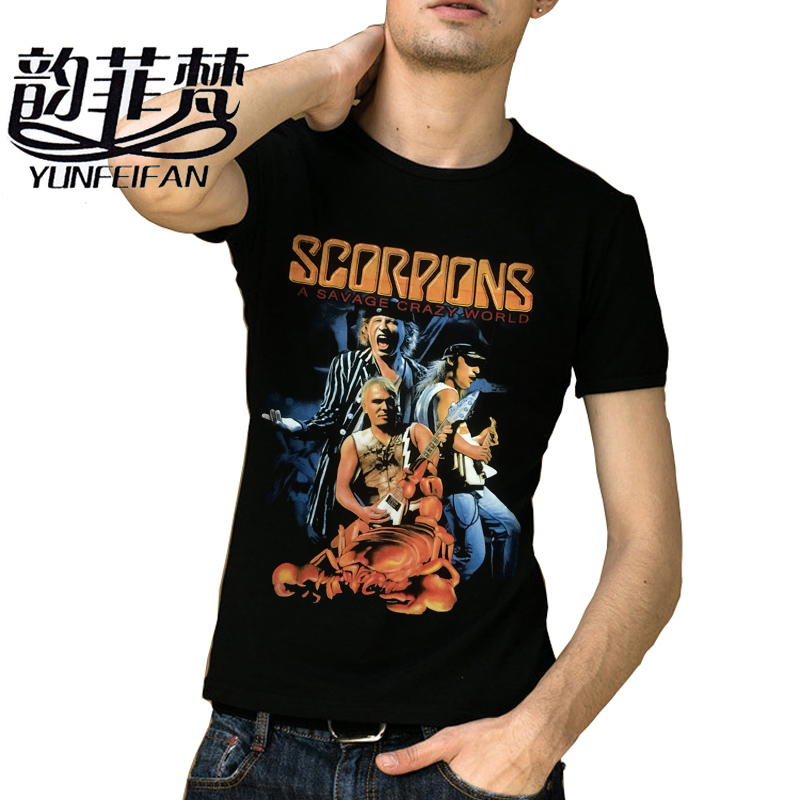 2018 new metal rock band scorpions logo legend men 39 s black. Black Bedroom Furniture Sets. Home Design Ideas