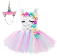 Baby Girls Summer Dress Princess Party Anna Animal Kids Children Unicorn Dresses