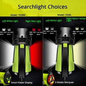 Image 2 - 1200 m brillante potente LED reflector portátil linterna banco de potencia 4400 mAh batería recargable antorcha impermeable al aire libre