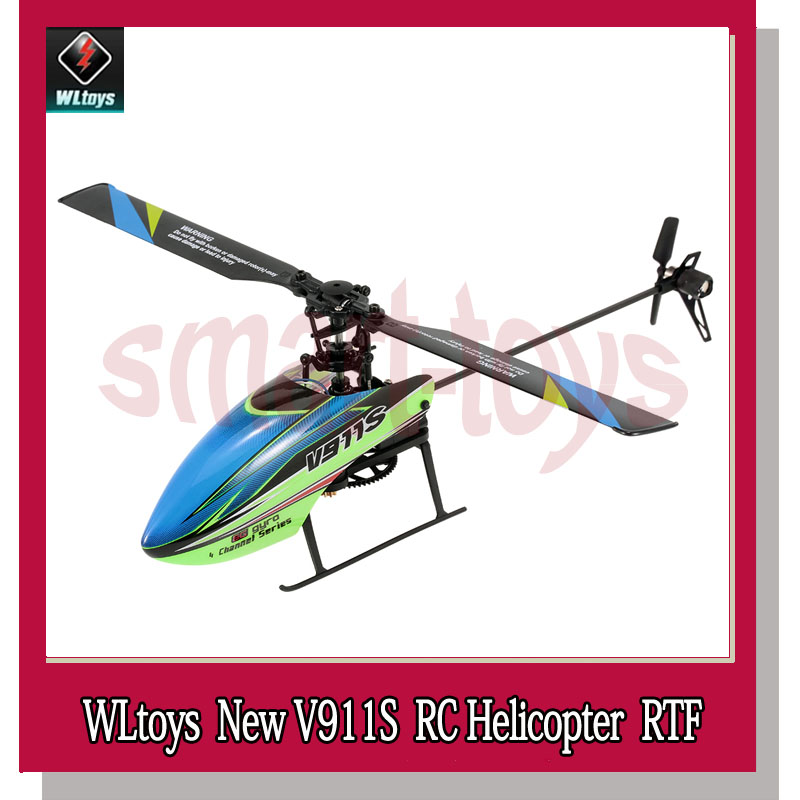 WLtoys V911S 2.4g 4CH 6 Aixs Gyro Flybarless RC Helicopter RTF 2018 Nieuwe Hot RC Afstandsbediening Helikopter-in RC Helikopters van Speelgoed & Hobbies op  Groep 2