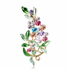 Luxury Bijoux Large Enamel Esmaltes Leaf Flowers Brooches Epoxy Corsage Wedding Broach Bouquet Hijab Pin Broches Party Women Lot