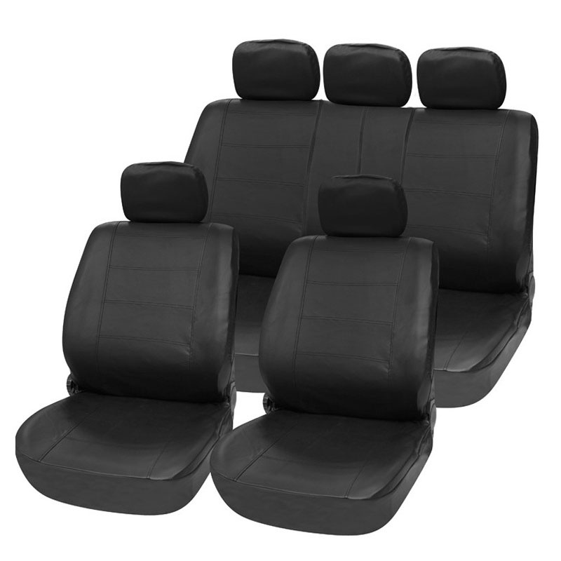 Carnong car seat cover leather universal 5 seat  4/5 headrest rear seat back split 40/60 or not armrest available seat cover car auto seat cover universal short plush winter for 5 seat standard rear seat back split 40 60 or not inner accessorsy covers car