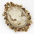 Beauty head brooches Women jewelry mix order
