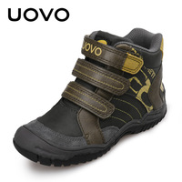UOVO Boys Sneakers Kids Shoes Autumn Winter Boy Sports Casual Shoes Motorcycle Shoes Hook Loop Fastner