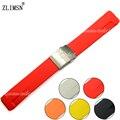 10 orange pçs/set 20mm das mulheres dos homens assistir faixa preta vermelho pulseira de borracha relógio de mergulho de alta qualidade silicone strap para t048