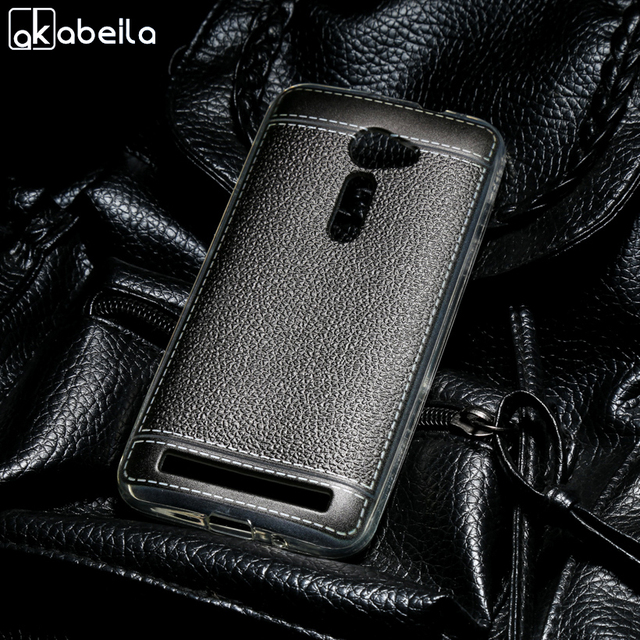 AKABEILA Silicone Phone Covers Cases For Asus Zenfone 2 ZE500CL 2E Z00D Zenfone2 5.0 Inch Covers Soft TPU Back Bags Shell Skin