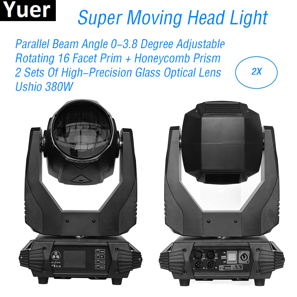 2Pcs/Lot 380W LED Moving Head Light Color temperature 8500K/4500K/3200K For Party Disco Bar Nightclub Stage Light DJ Equipment2Pcs/Lot 380W LED Moving Head Light Color temperature 8500K/4500K/3200K For Party Disco Bar Nightclub Stage Light DJ Equipment