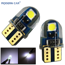 MODERN CAR T10 Reading Lights W5W 194 168 501 LED Signal Lamp Bulbs 3030 2SMD 6000K White Clearance Lights Reading Lamp Canbus tuincyn 2pcs t10 w5w 194 3030 smd led bulbs small size high power t10 lamps for signal clearance sidemarker lights universal led