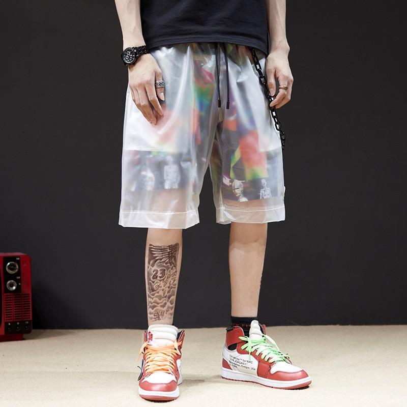 Shorts Hip-Hop Summer Harem Streetwear Knee-Length Fashion Fake Male Harajuku Two-Pieces
