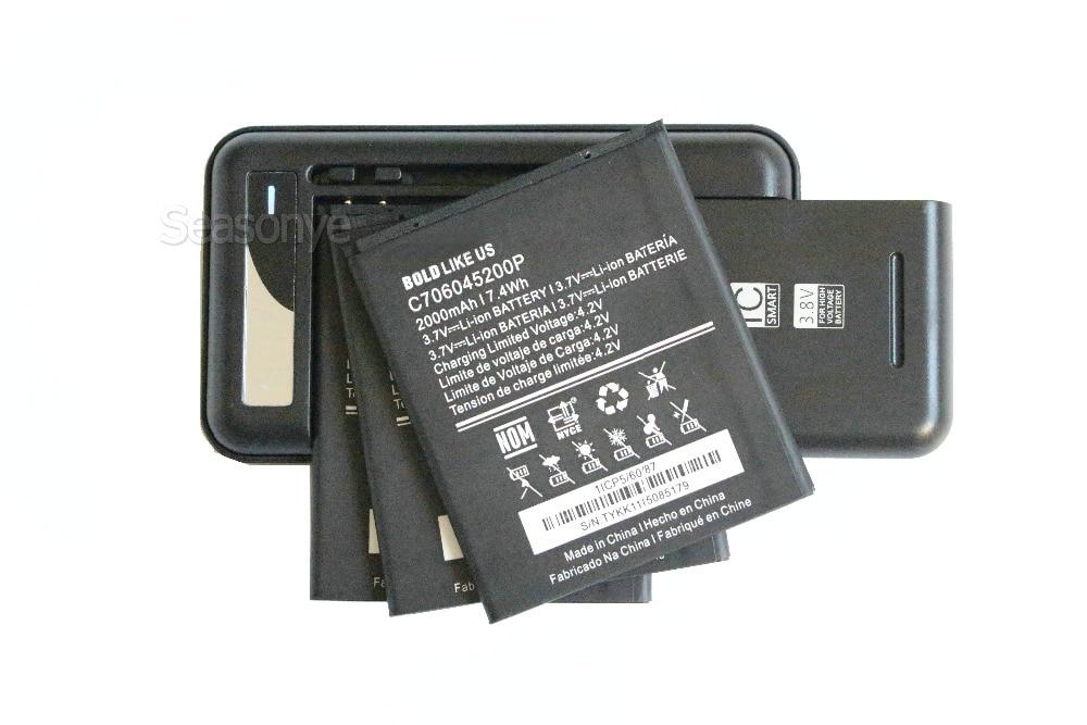 Seasonye 2000mAh C706045200P сменный аккумулятор + универсальное настенное зарядное устройство USB для BLU Studio C 5 + 5 S0050UU D890 D890U D890L