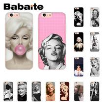 Babaite marylin monroe TPU Phone Accessories Case Cover Shell for iPhone 8 7 6 6S Plus X XS MAX 5 5S SE XR 10 Capa