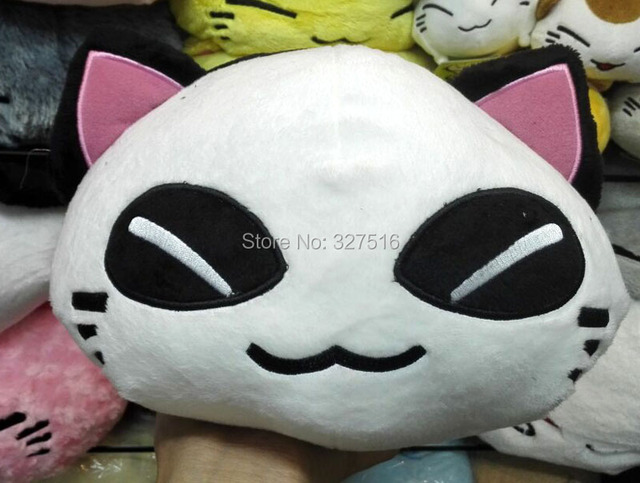 38CM Cartoon Plush animal figure toy nemuneko sleeping cat soft plush doll toys cute neko styles cat pillow free shipping