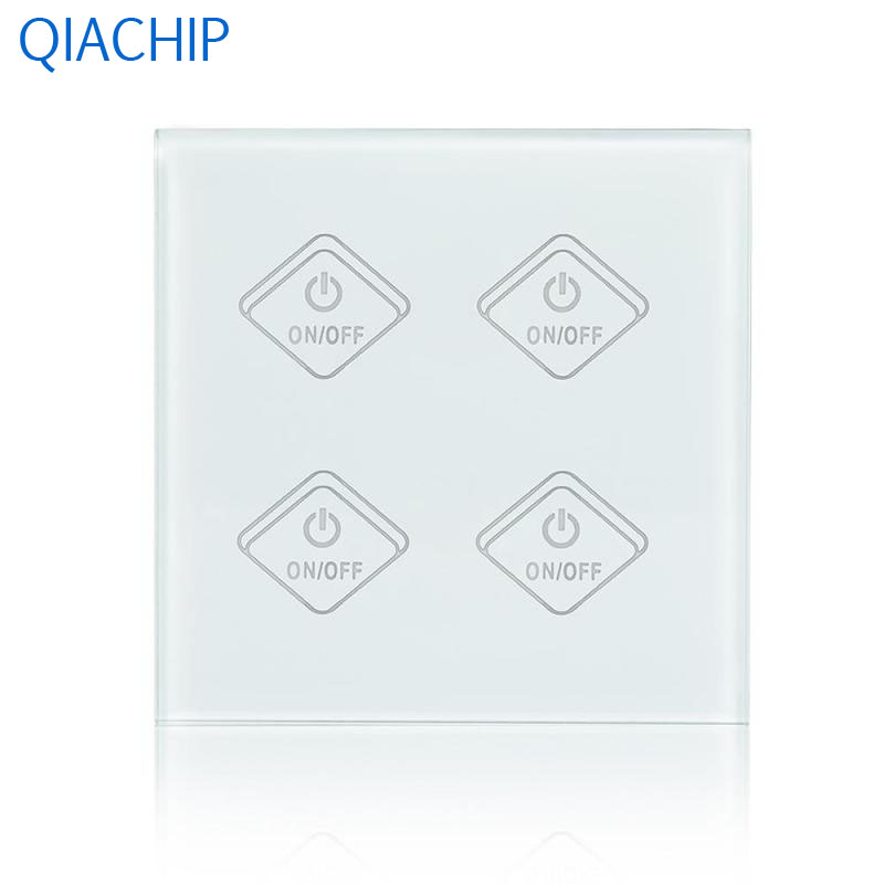 WiFi Smart Switch 4 Gang Light Wall Switch APP Remote Control Timing Switch Kitchen Luxury White Crystal Tempered Glass Panel percy jackson and the battle of the labyrinth