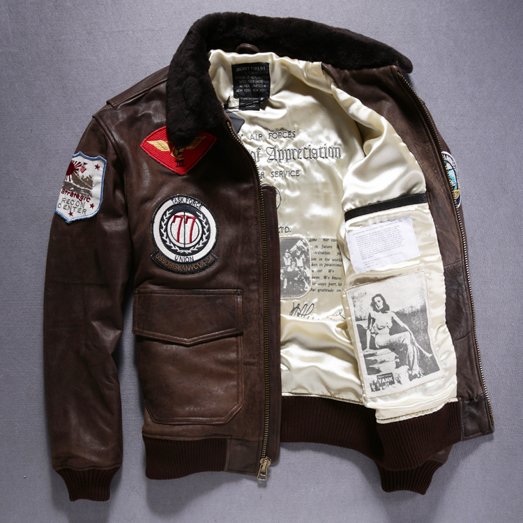 jacket leather Picture - More Detailed Picture about avirex flight ...
