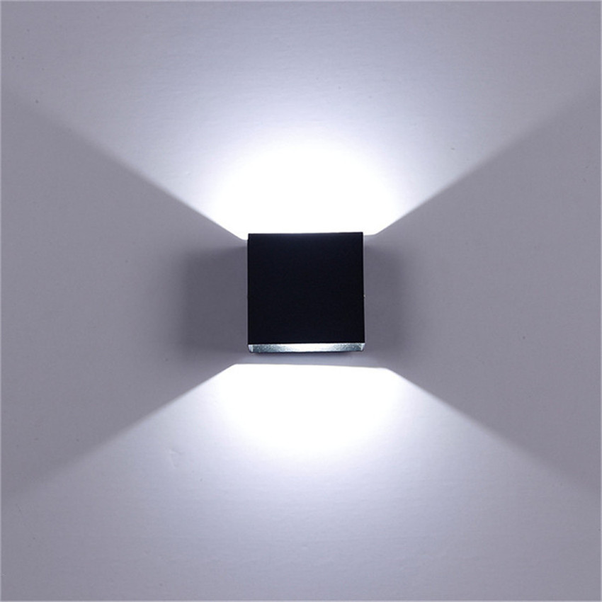 LED Wall Lamp IP65 Waterproof Indoor & Outdoor Aluminum Wall Light Surface Mounted Cube LED Garden Porch Light NR-155 3