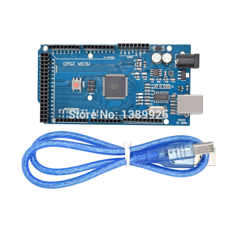 Mega2560 R3 CH340G ATmega2560-16AU , Mega2560 REV3  Compatible With USB Cable