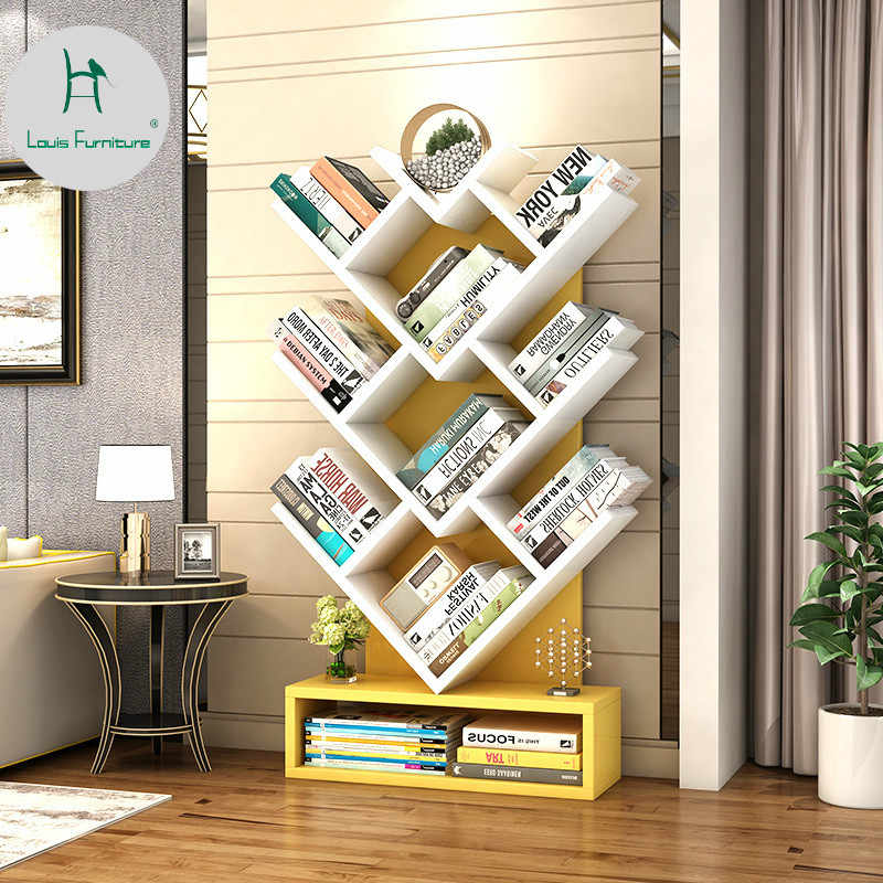 Louis Fashion Bookcases Shelf Simple Modern Creative Bookshelf for Children