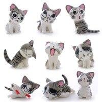 2 Style Słodkie! 9 sztuk Koty Kreskówki Mini Chi Chłopcy Dzieci Sweet Home Kot PVC Action Figures Kolekcja Lalek Zabawki Nowy Rok prezenty # LNF