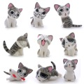 2 Styles Cute ! 9pcs Cartoon Mini Chi's Cats Boys Kids Collection Sweet Home Cat PVC Action Figures Dolls Toy New Year Gifts#LNF