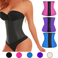 Latex Waist Cincher Waist Trainer Corsets and Bustiers Steel Boned Corselet  Rubber Body Shaper Slimming Belt Underbust