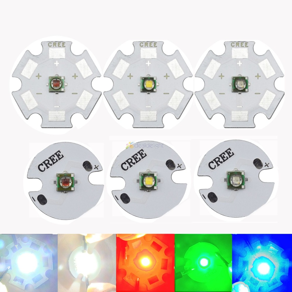 50x CREE XRE 1-3w 6500-7000K Cool White 7090 High Power Led with 16mm PCB
