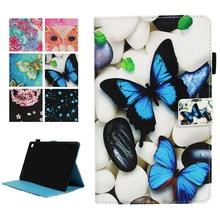 Magnetic Case For Huawei MediaPad M5 10 10.8 CMR-AL09 CMR-W09 Printed Butterfly Owl Smart Cover Funda Tablet Stand Capa Shell slim business retro flip stand cover case for huawei mediapad m5 lite 10 case bah2 w09 bah2 l09 bah2 w19 10 1 tablet shell