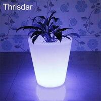 Thrisdar 16 Couleur LED lumineux Pots De Fleurs Avec Télécommande IP68 Étanche En Plastique Pot De Fleur Pour Jardin Chambre Restaurant Hôtel