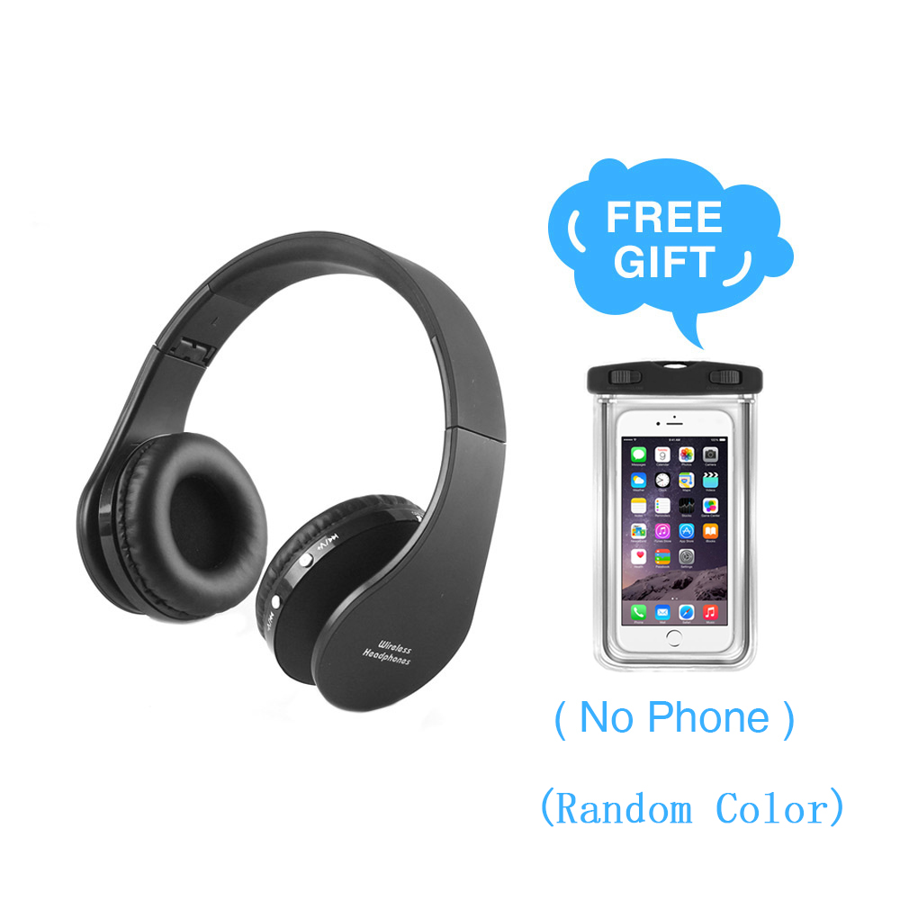 Vapeonly Portable Folding Wireless Bluetooth Headset 3.5mm AUX Stereo Music Head Mount Headsets with Handfree Foldable Headphone