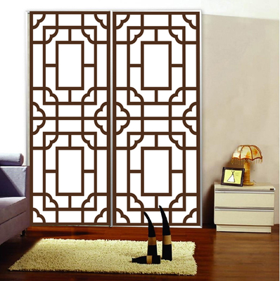 PVC 60x100cm retro <font><b>wardrobe</b></font> glass film Chinese window stickers custom made opaque balcony kitchen <font><b>sliding</b></font> door bedroom