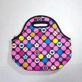 Мода неопрена теплоизолирующего портативный обед мешок женщин дети ребенок случайные сумки окно тотализатор водонепроницаемый контейнер еды ALB394G