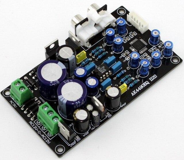 Trasporto Frss AK4490EQ AK4490 II2S DAC scheda di decodifica/AC15V-0-AC15V (15 W) AC9V 10 W
