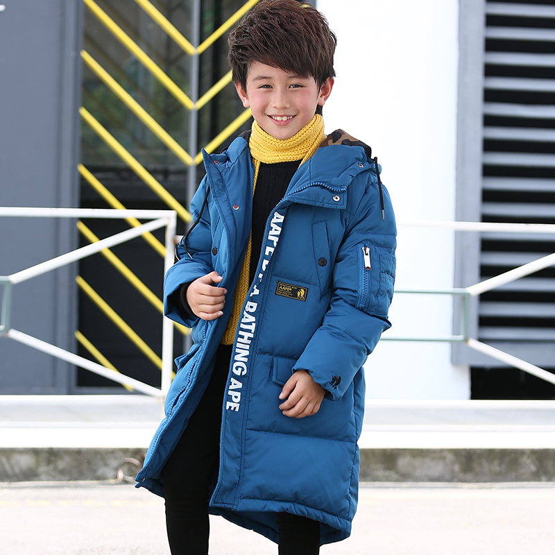 2017 Winter New Boys Thicken Warm X-Long Overcoat Boy Kids Zipper Cotton-Padded Boys Parkas Children Clothes Thermal Cold-proof children winter coats jacket baby boys warm outerwear thickening outdoors kids snow proof coat parkas cotton padded clothes